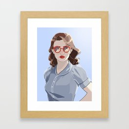 Pegs Framed Art Print