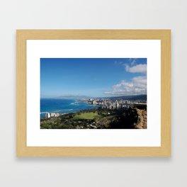 Diamond Head Coast Framed Art Print
