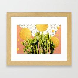 Cactus Dream #society6 #decor #buyart Framed Art Print