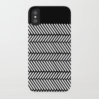 herringbone iPhone & iPod Cases featuring Herringbone Boarder by Project M
