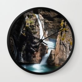 Johnston Canyon Lower Falls Wall Clock