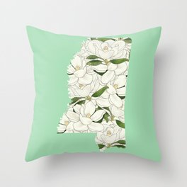 Mississippi in Flowers Throw Pillow