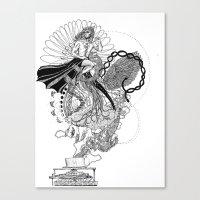 technology Canvas Prints featuring Technology by Christina Grace Vergona