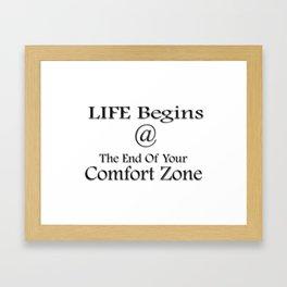 Motivational Inspirational Quote Framed Art Print