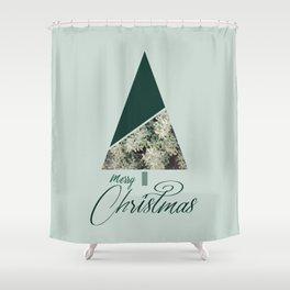 Green Xmas #society6 #green #xmas Shower Curtain