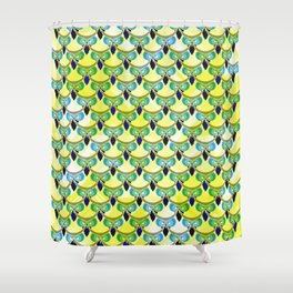 Tired owls in yellow Shower Curtain