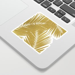 Palm Leaf Gold III Sticker