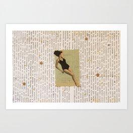 Mar de palabras Art Print