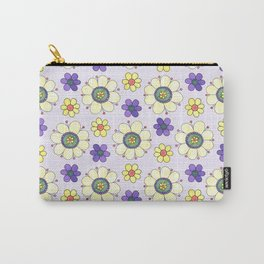 Crazy Daisies Lavender Carry-All Pouch
