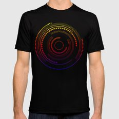 Circle of shapes Black Mens Fitted Tee MEDIUM