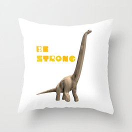 Dinosaur Illustration Throw Pillow