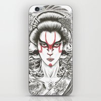 geisha iPhone & iPod Skins featuring Geisha by Demones