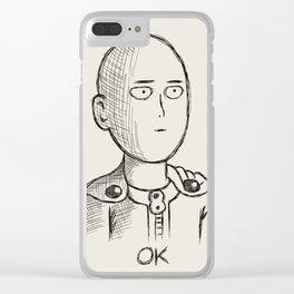 saitama okok Clear iPhone Case