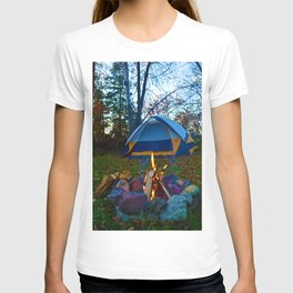 Camping & a Campfire in the Kawartha Lakes, Ontario, Canada T-shirt
