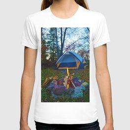 Camping & a Campfire in the Kawartha Lakes, Ontario, Canada T-shirt