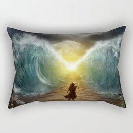 Moses splits the sea Rectangular Pillow