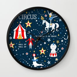 Retro Circus Wall Clock