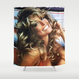 Farrah Smile Shower Curtain