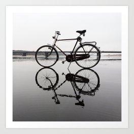 Cycling on Water Art Print