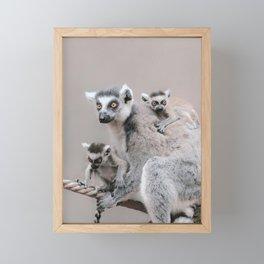RINGTAILED LEMUR FAMILY by Monika Strigel Framed Mini Art Print