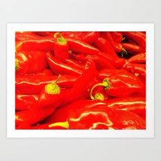 Hot Red  Art Print