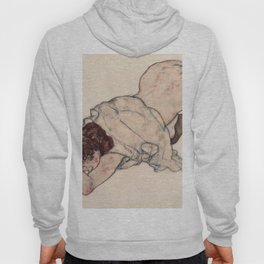 Egon Schiele - Kneeling Girl, Resting on Both Elbows Hoody