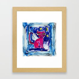Angel Kitty by Kathy Morton Stanion Framed Art Print