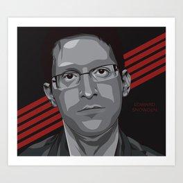 Edward Snowden Art Print