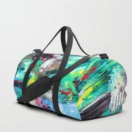 Blue Green Abstract Duffle Bag