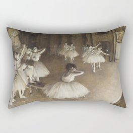 Ballet Rehearsal on Stage Rectangular Pillow