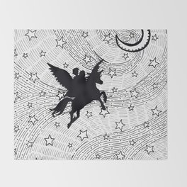Flight of the alicorn Throw Blanket