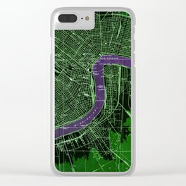 New Orleans Louisiana 1932 vintage old beautiful map Clear iPhone Case