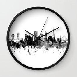 San Francisco City Skyline Wall Clock
