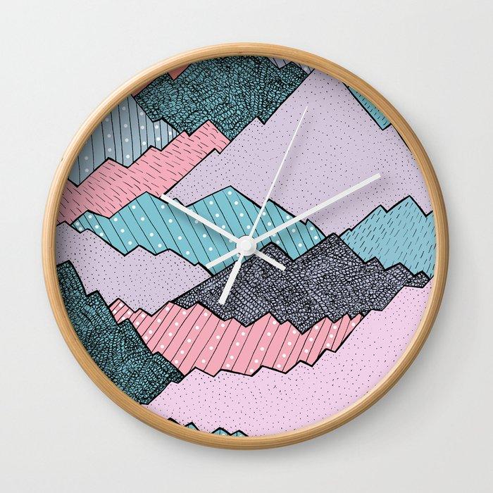 Mountain Tones Wall Clock