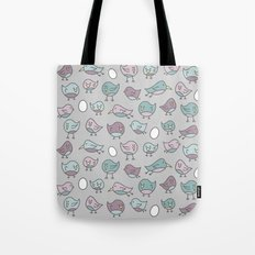 For the Birds Pattern Tote Bag