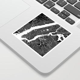 New York City Black And White Map Sticker