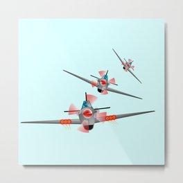 Three Spitfires Metal Print