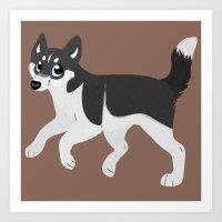 husky Art Prints featuring Husky by Sarah