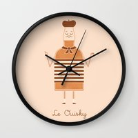 whisky Wall Clocks featuring Le Ouisky by Teo Zirinis