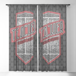 Teacher Shield Sheer Curtain