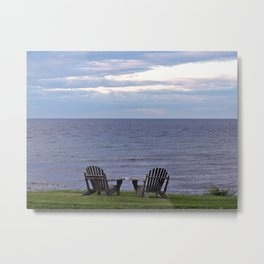 Seating by the Sea Metal Print
