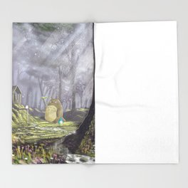 Totoro's Forest Throw Blanket
