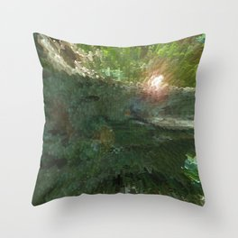 Crepe Myrtle In 3-D v.2 Throw Pillow