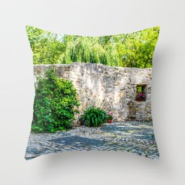 Old Castle Wall Throw Pillow