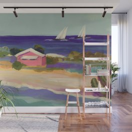 PINK COTTAGE BEACH Wall Mural