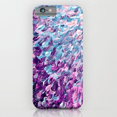 FROSTED FEATHERS 1 Colorful Lavender Purple Lilac Serenity Rose Quartz Ombre Ocean Splash Abstract iPhone 6 Slim Case