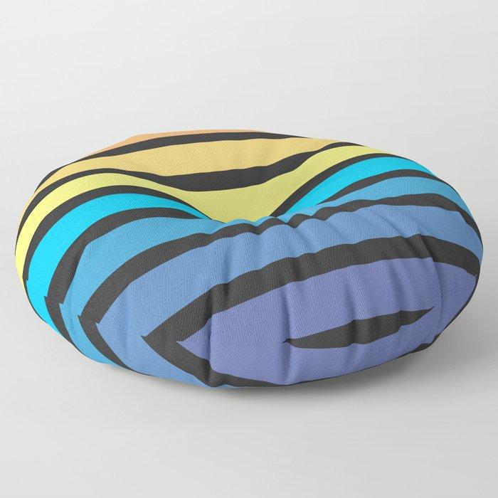 Stripe Sunset Floor Pillow