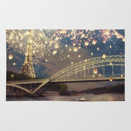 Love Wish Lanterns over Paris Rug
