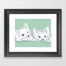 mint kittens 02 Framed Art Print
