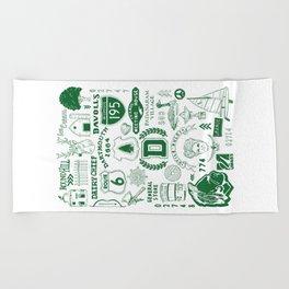 Dartmouth Massachusetts Print Beach Towel